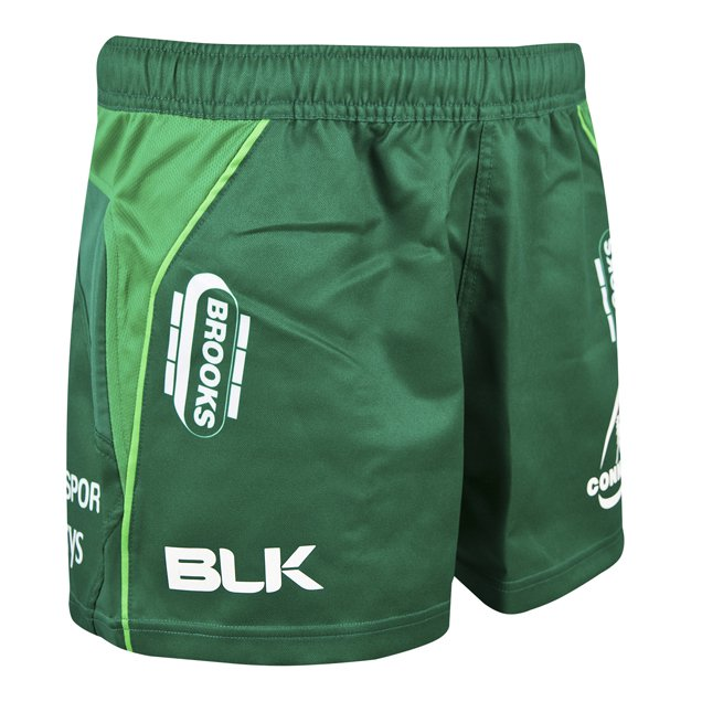 BLK Connacht 18 Home Kids Shorts Green