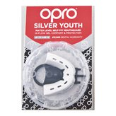Opro Shield Silver Junior White/Black