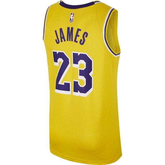 online store 9cfcf e3bb6 Nike LA Lakers Kids' Jersey - James 23, Gold | Elverys Site