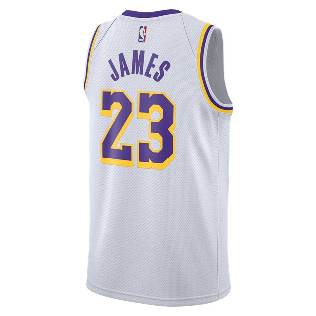 the latest 2061d a3a81 Nike LA Lakers Jersey - James 23, White | Elverys Site