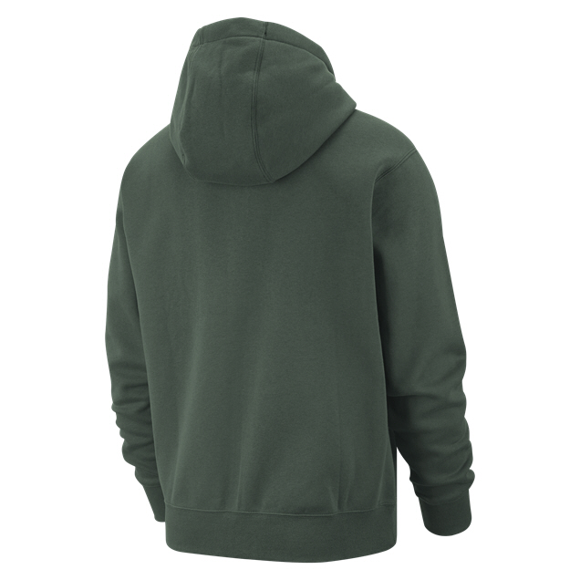 Nike Swoosh Club Fleece Hoody, Green
