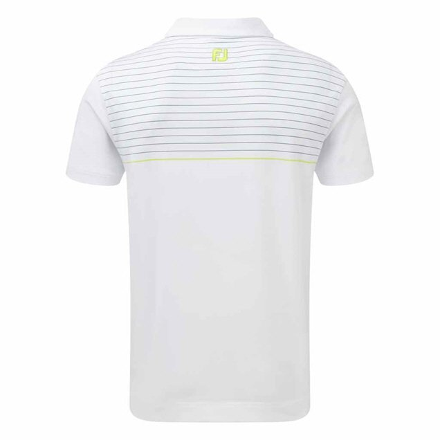Footjoy Stretch Stripe Polo White/Blue