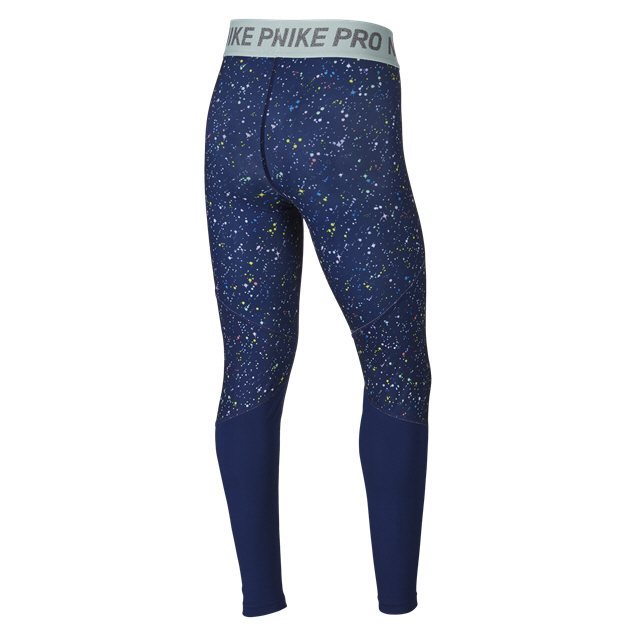 Nike Pro Warm Girls' Tight, Blue Void
