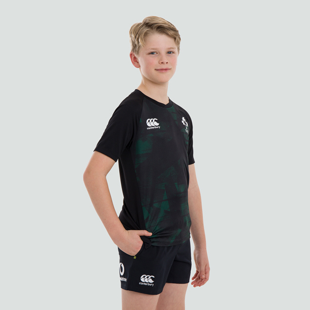 CANTERBURY IRFU 20 POLY KIDS TEE BLACK