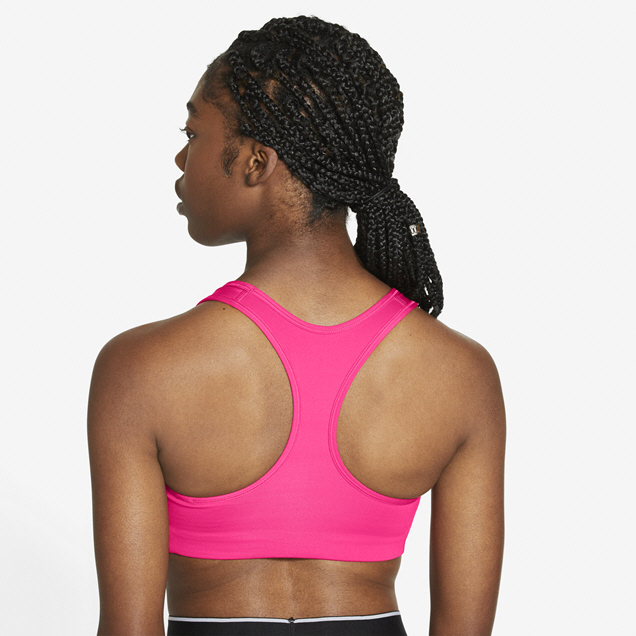 Nike Swoosh Medium Sports Bra Pink