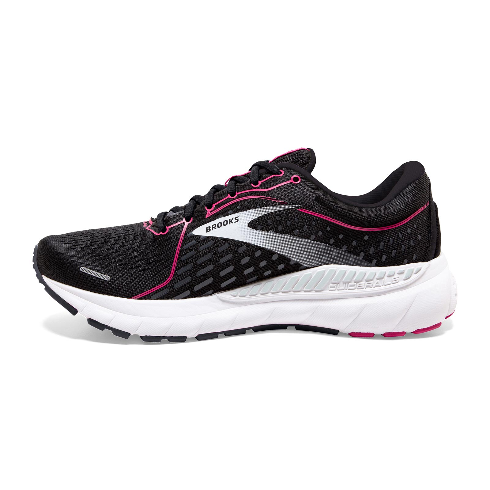 ALL BLACK ALL SIZES NEW MENS BROOKS ADRENALINE GTS 21-4E WIDE-FIT