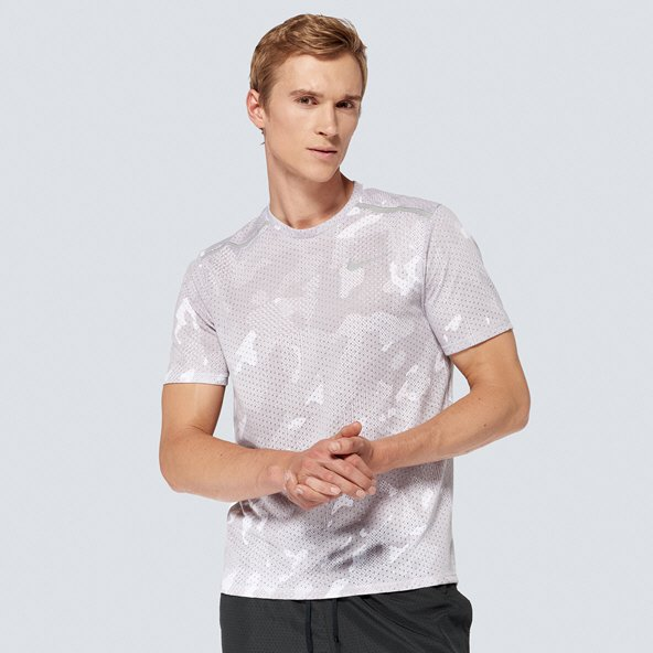 Nike Breathe Rise 365 Men's Running T-Shirt, Grey