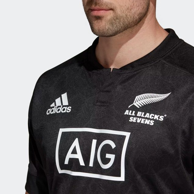 adidas All Blacks 2018 7's Jersey, Black