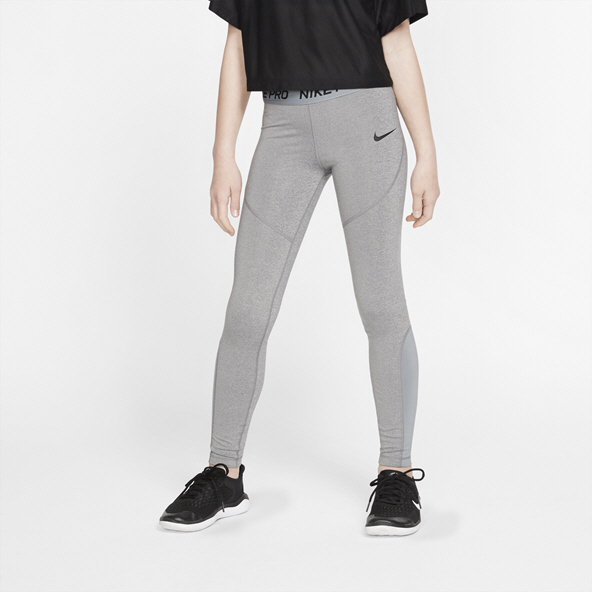Nike Pro Girls' Tight, Grey