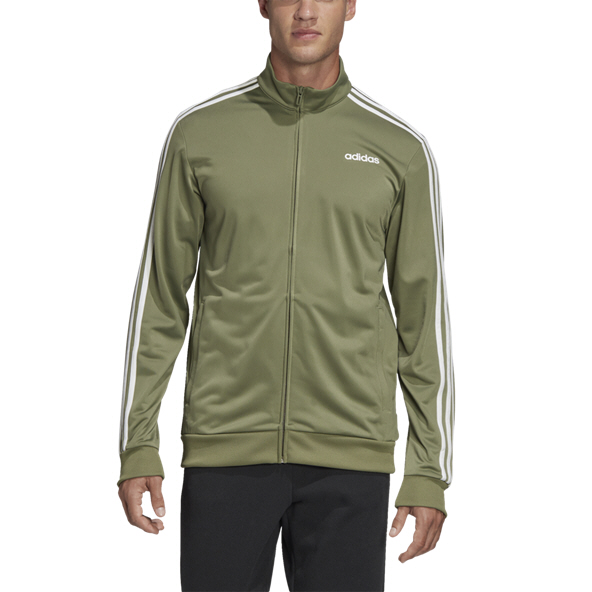 adidas Essential 3 Stripe Men's Track Top, Green