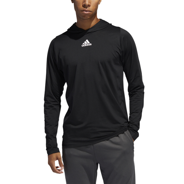 adidas Free Lift Men's Hooded Top, Black