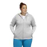 adidas 3 Stripe Knit Women's Zip Hoody, Grey