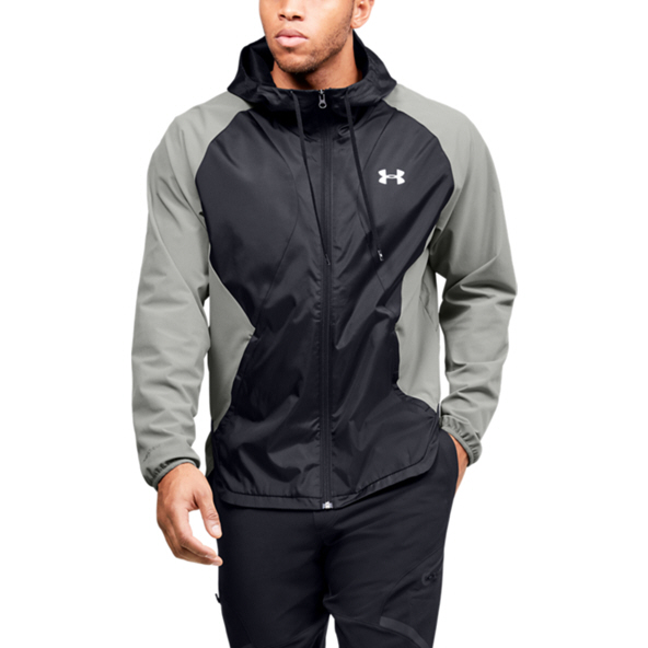 Under Armour® Stretch Woven Full-Zip Jacket, Green/Black