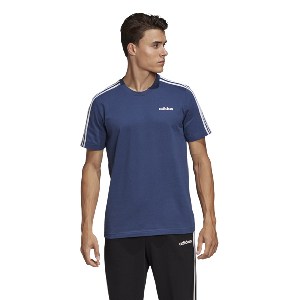 adidas Essential 3S Men's T-Shirt, Indigo