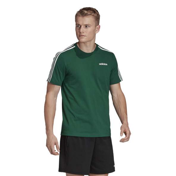 adidas Essential 3S Men's T-Shirt, Green