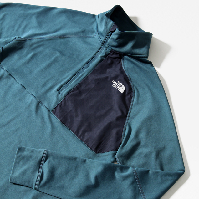 The North Face AMB Mens Half Zip Blue