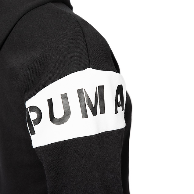 Puma Colourblock Girls Hoody Black