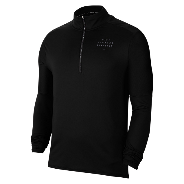 Nike Mens Run Dvn Element Half Zip Black