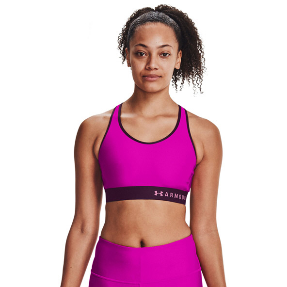 Under Armour Armour Mid Keyhole Bra, Pink