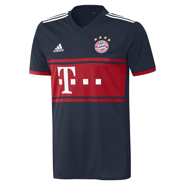 adidas Bayern Munich 2017/18 Kids' Away Jersey, Navy