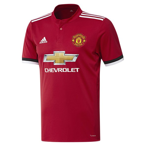 adidas Man United 2017/18 Kids' Home Jersey, Red