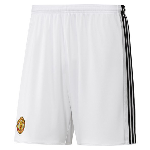 adidas Man United 2017/18 Kids' Home Short, White