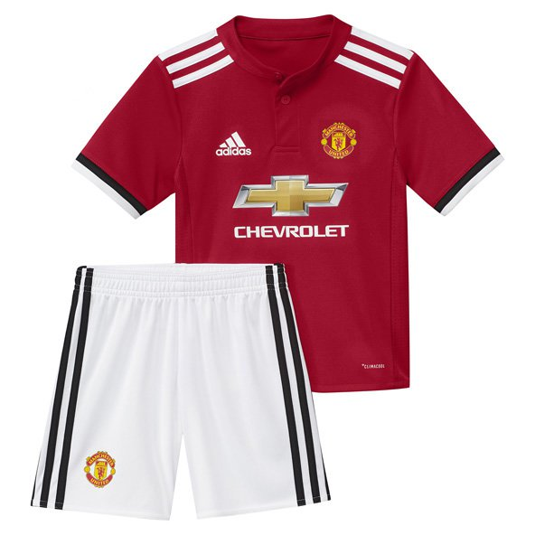 adidas Man United 2017/18 Home Mini Kit, Red