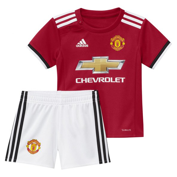 adidas Man United 2017/18 Home Baby Kit, Red