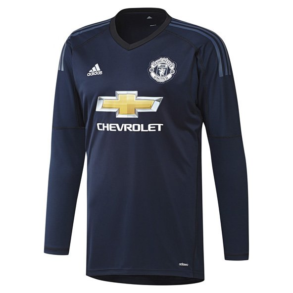 adidas Man United 2017/18 Kids' Home GK Jersey, Navy
