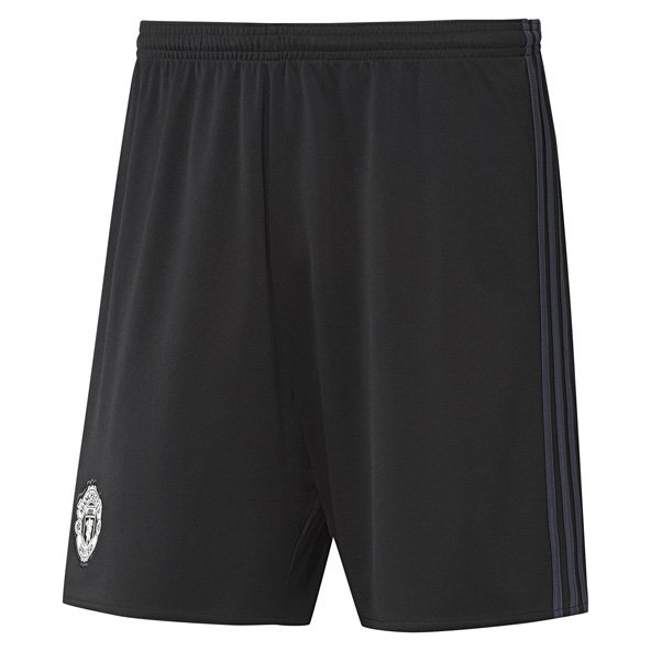 adidas Man United 2017/18 Kids' Home GK Short, Black