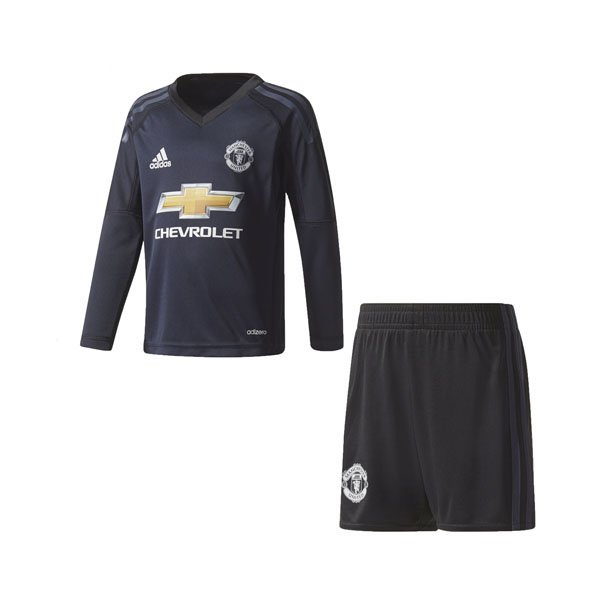 adidas Man United 2017/18 Home GK Mini Kit, Navy