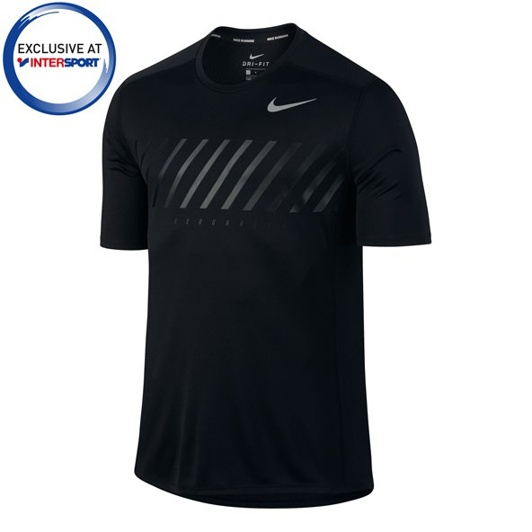 Nike Dry Miler GX Men's SS T-Shirt, Black