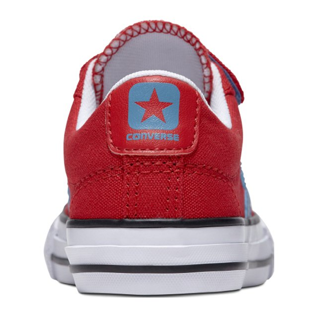 Converse Star Player Ox 3V Boys' Trainer, Red