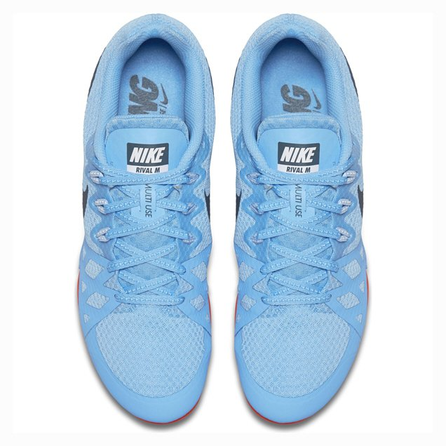 new concept f22c2 16d71 ... Blue Nike Zoom Rival M8 Mens Running Spikes, ...