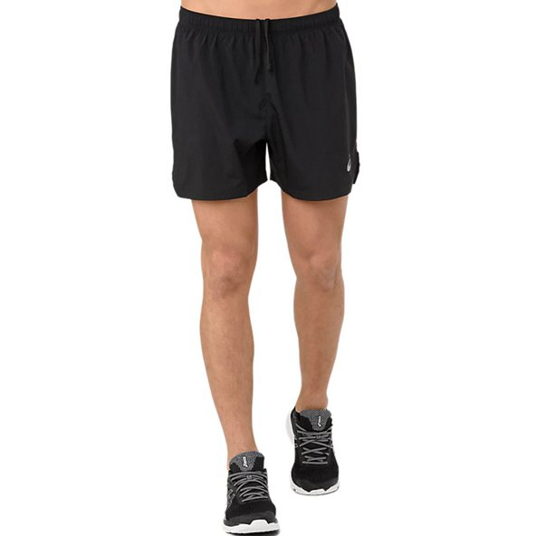 "Asics Silver 5"" Men's Running Short, Black"