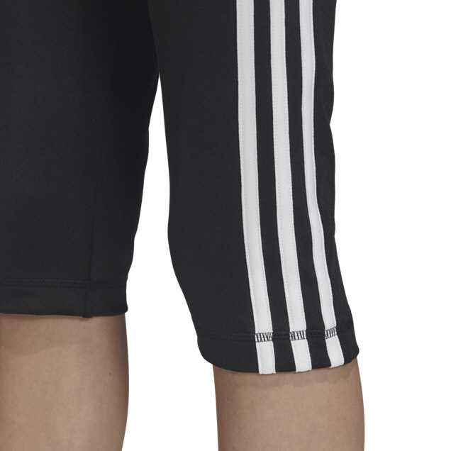 adidas Equipment  3 Stripe Girls Tights Black/White