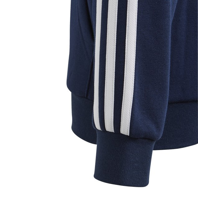 adidas Essential 3-Stripe Full Zip Boys' Hoody Navy/White