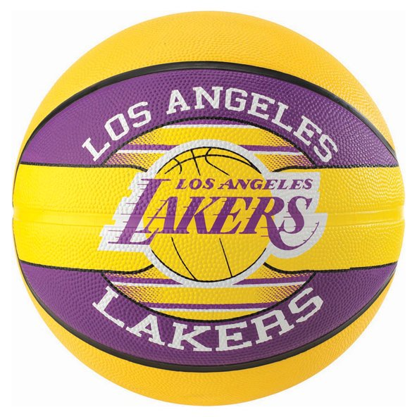 Spalding LA Lakers Team Basketball - Size 7, Yellow