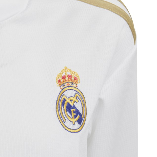 on sale 7744b 1cb00 adidas Real Madrid 2019/20 Kids' Home LS Jersey, White ...