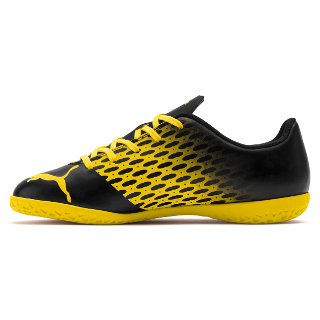 Puma Spirit II IT Jnr Black/Yellow