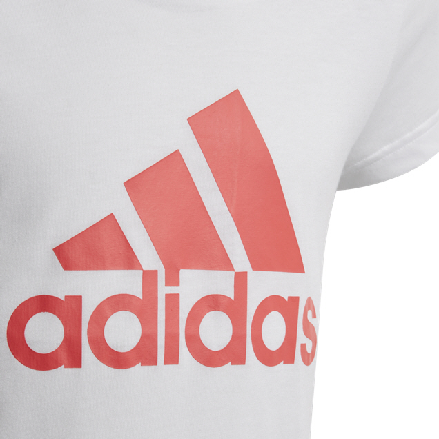 adidas Must Haves BOS Girls' T-Shirt, White