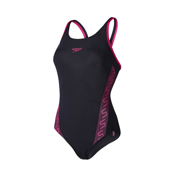 Speedo Monogram Muscleback Women's Swimsuit Black