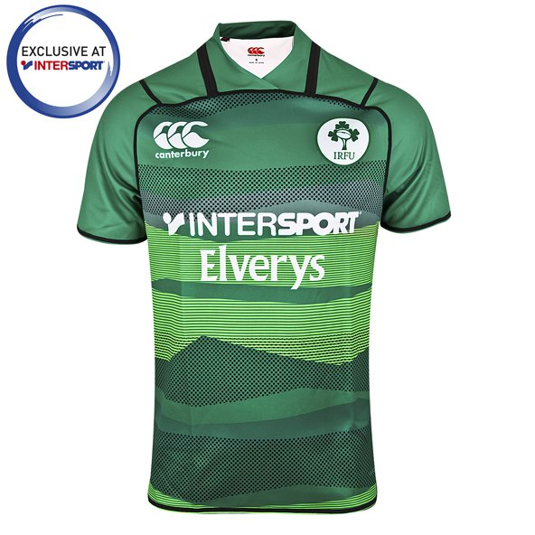 Canterbury IRFU 2018 Rugby 7's Kids' Home Jersey, Green