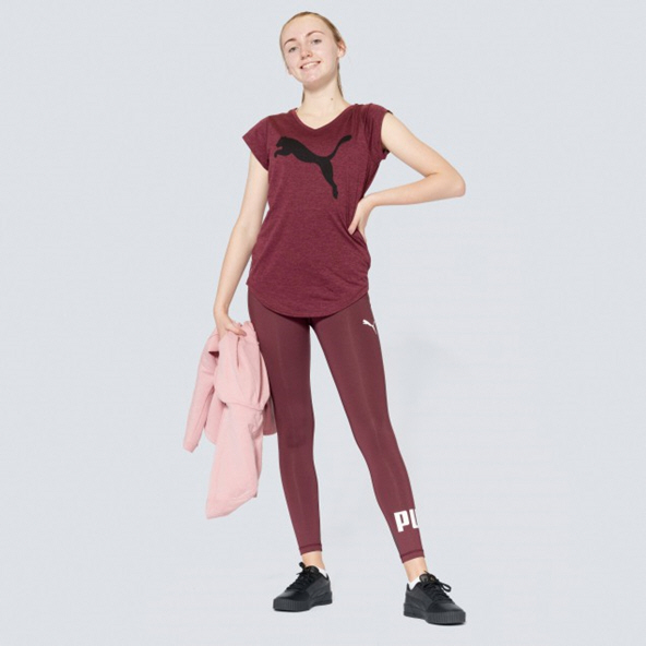 Puma Heather Cat Women's T-Shirt, Wine