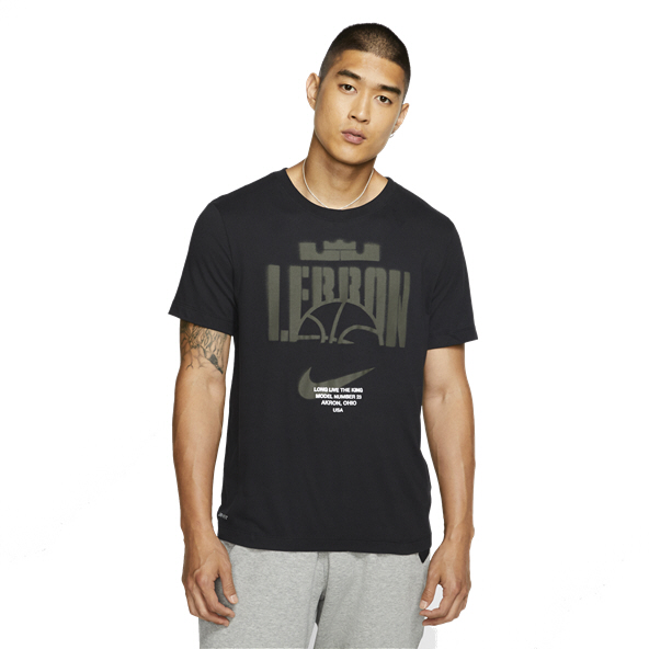 Nike Dri-FIT LeBron James T-Shirt, Black