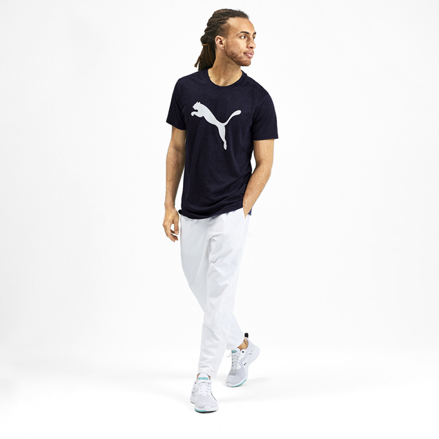 Puma Heather Cat Men's T-Shirt Navy