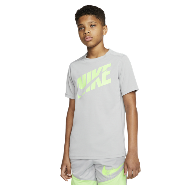 Nike Perform HBR Boys' T-Shirt, Grey