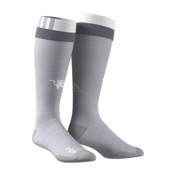 Man Utd 3rd 17 Socks Grey/White
