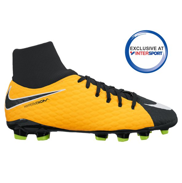 Nike Hypervenom Phelon III Kids' DF FG Football Boot, Orange