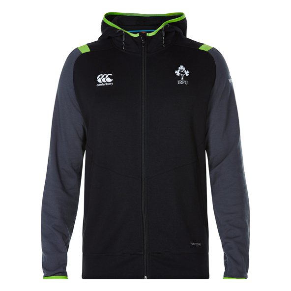Canterbury IRFU 17 FZ Fleece Hoody Black